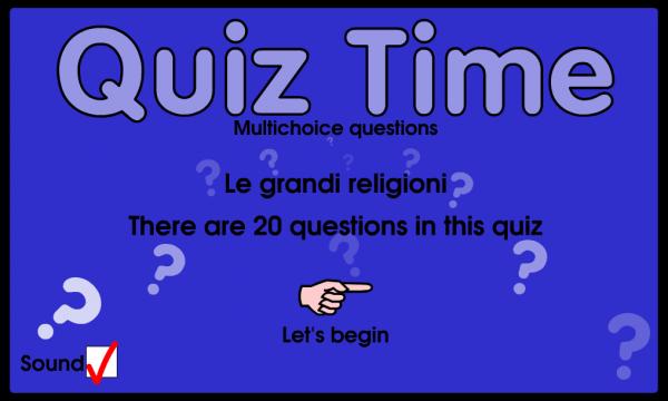 Le grandi religioni: quiz
